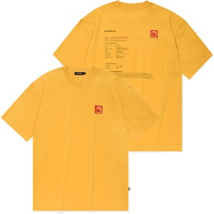 [낫포너드] Square Folder logo T-Shirts Yellow
