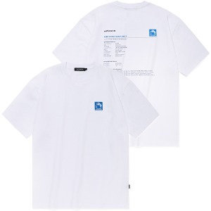 [낫포너드] Square Folder logo T-Shirts White
