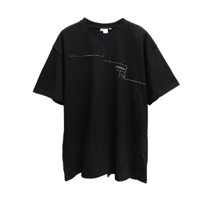 [더블에이씨] Distorted Architecton T-shirt-black