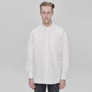 [DEADEND] OVERSIZE SHIRTS - WHITE