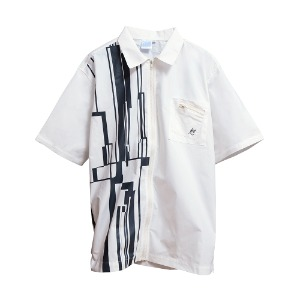 [더블에이씨] Gotha.2 Zip Shirt-whiteB