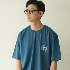 [BANGERS] TRAVEL AGENCY T-SHIRT_CLASSIC BLUE