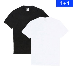 [AAA] (1301)Adult Short Sleeve Tee - Black,White 1+1