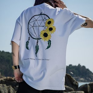 [A.Clown]DREAM CATHCER SUN HALF-TEE_WHITE