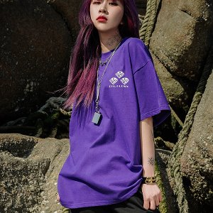 [A.Clown]DIA.CLOWN HALF-TEE_PURPLE