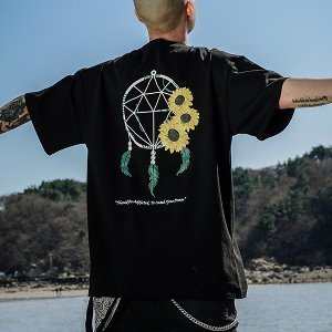 [A.Clown]DREAM CATCHER SUN HALF-TEE_BLACK
