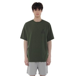 [아클리세] Triangle Logo T-shirts Khaki