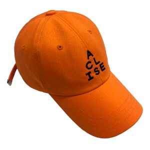 [아클리세] Triangle Logo Ball Cap Orange