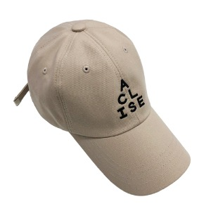 [아클리세] Triangle Logo Ball Cap Beige
