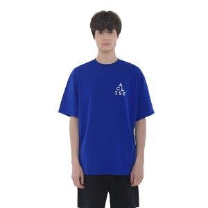 [아클리세] Triangle Logo T-shirts Blue
