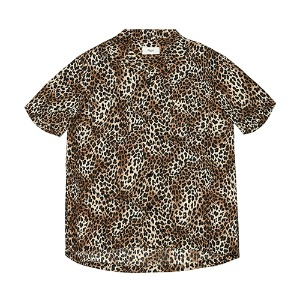 [Rolling Studios] HAWAIAN SHIRT LEOPARD BROWN/BLACK