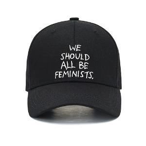 [Rolling Studios]WE SHOULD ALL BE FEMINISTS EMBROIDERED BALL CAP BLACK