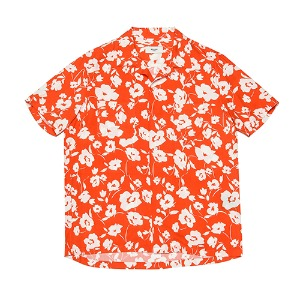 [Rolling Studios] HAWAIAN SHIRT FLORAL RED/WHITE