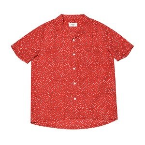 [Rolling Studios] HAWAIAN SHIRT DOT RED/WHITE