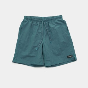 [아임낫어휴먼비잉] RUBBER PATCHED SHORTS - GREEN