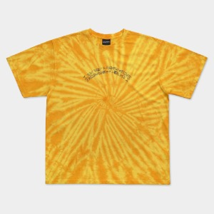 [아임낫어휴먼비잉] TIE-DYE BASIC LOGO TEE - YELLOW