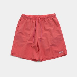 [아임낫어휴먼비잉] RUBBER PATCHED SHORTS - CORAL