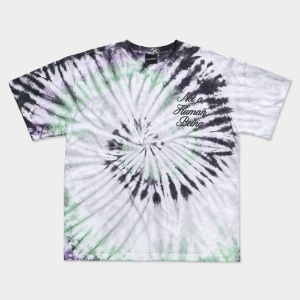 [아임낫어휴먼비잉] TIE-DYE RAINBOW TEE - Multi GREEN