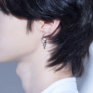 [HAWHA] Cross Ring Piercing (이어링 변경 가능)