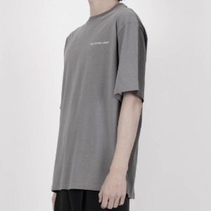 [디베르그] Half N Half Grayish T-Shirt [Light Gray]