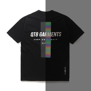 [QT8 GARMENTS] FG Reflective Cross Tee (Black)