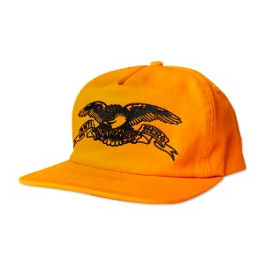 [안티히어로] BASIC EAGLE Snapback - ORANGE/BLACK 50020104B00
