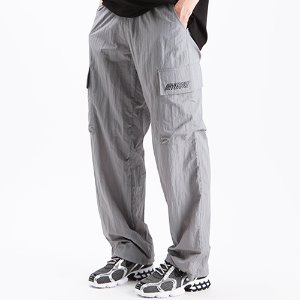 [OHVERDOSE]SIGNATURE LOGO NYLON CARGO PANTS GREY