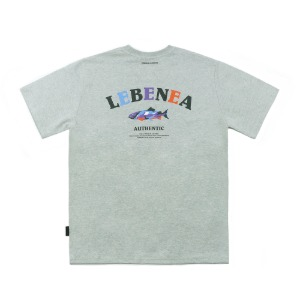 [Lebenea] Original Salmon T-shirt_Gray