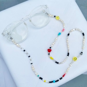 [RUNDS] smile fresh-water pearl glasses strap