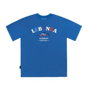 [Lebenea] Original Salmon T-shirt_Aquablue