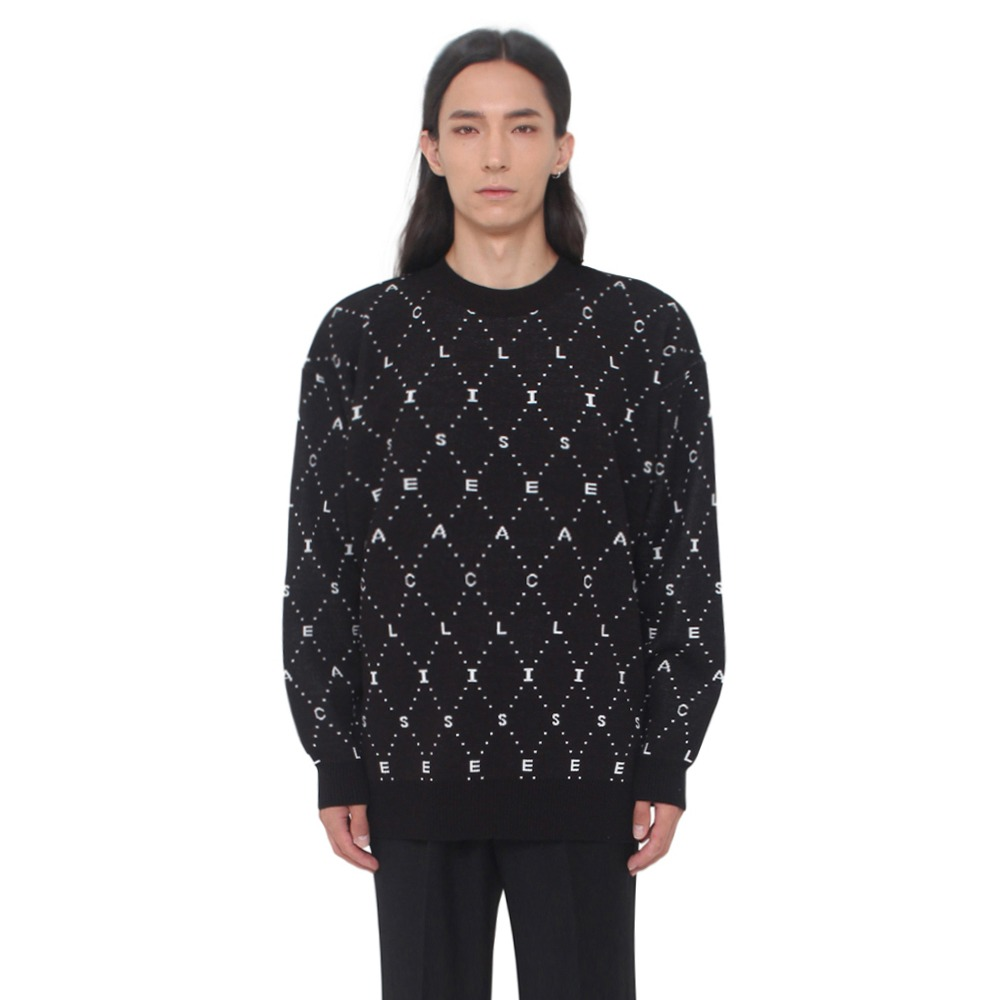 [아클리세] ACLISE Jacquard Knit Black