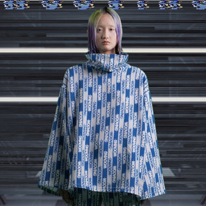 [WOOVING] HOSPITAL STRING TURTLENECK (BLUE)