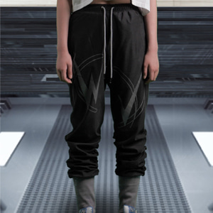 [WOOVING] SHIRRING JOGGER PANTS (BLACK)