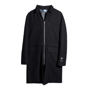 [더블에이씨] CENTREALE Detachable Wool Coat/Jacket-black