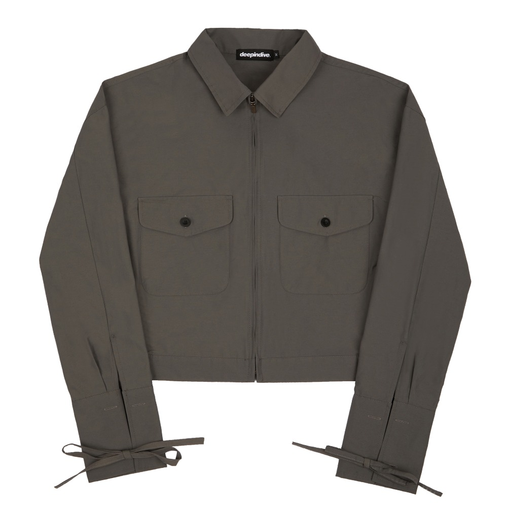 [딥인다이브] TANOS ROPE CROP JACKET GRAY