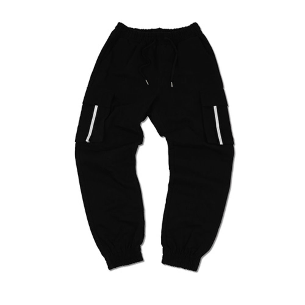 [예스이지] SCOTCH JOGGER PANTS v2 - BLACK