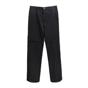 [더블에이씨] Zippered Straight/Bootcut Trouser-black