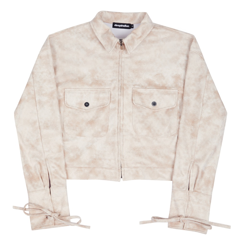 [딥인다이브] TAREGON ROPE CROP JACKET IVORY