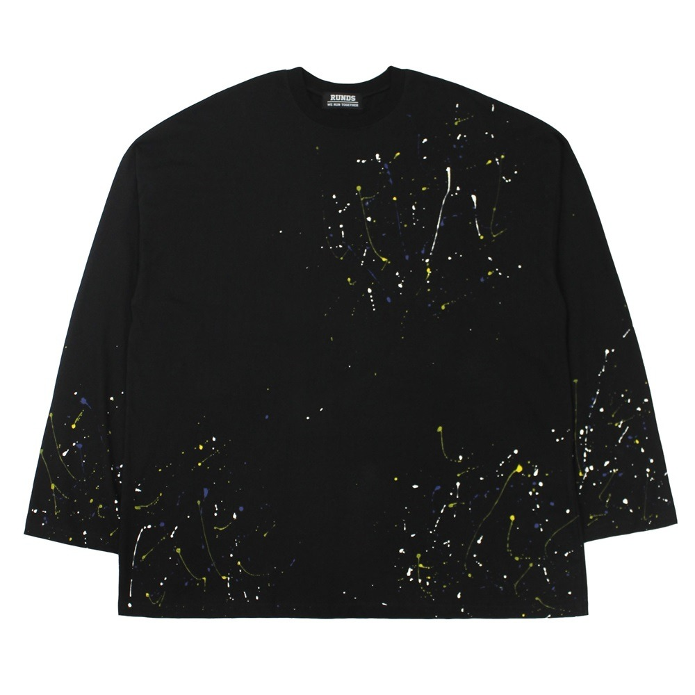 [RUNDS] painting oversize long sleeve (black)