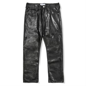 [킹아카이브] Black Coated Denim Pants