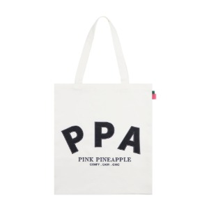 [PINK PINEAPPLE] INITIAL LOGO ECO BAG_IVORY