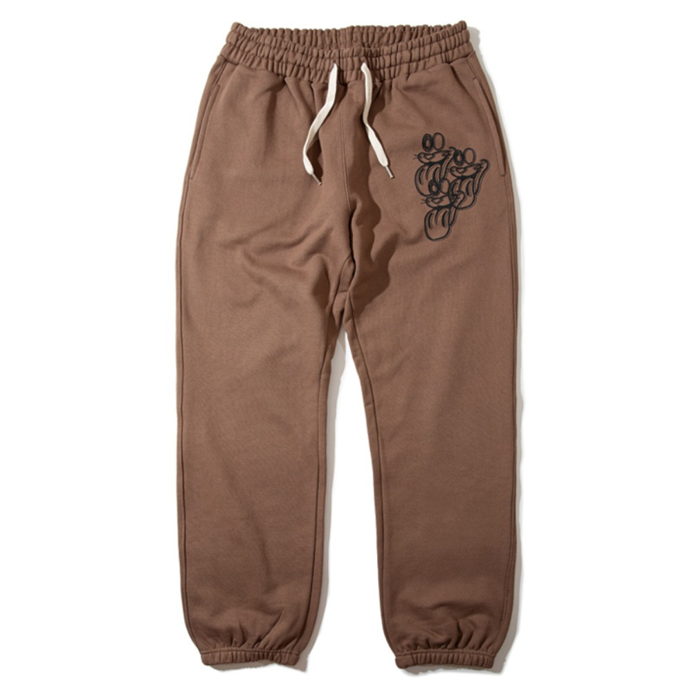 [KING]Tongue Sweatpants -Brown