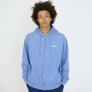 [아임낫어휴먼비잉] Basic Logo Zip-up Hoodie - ROYAL BLUE
