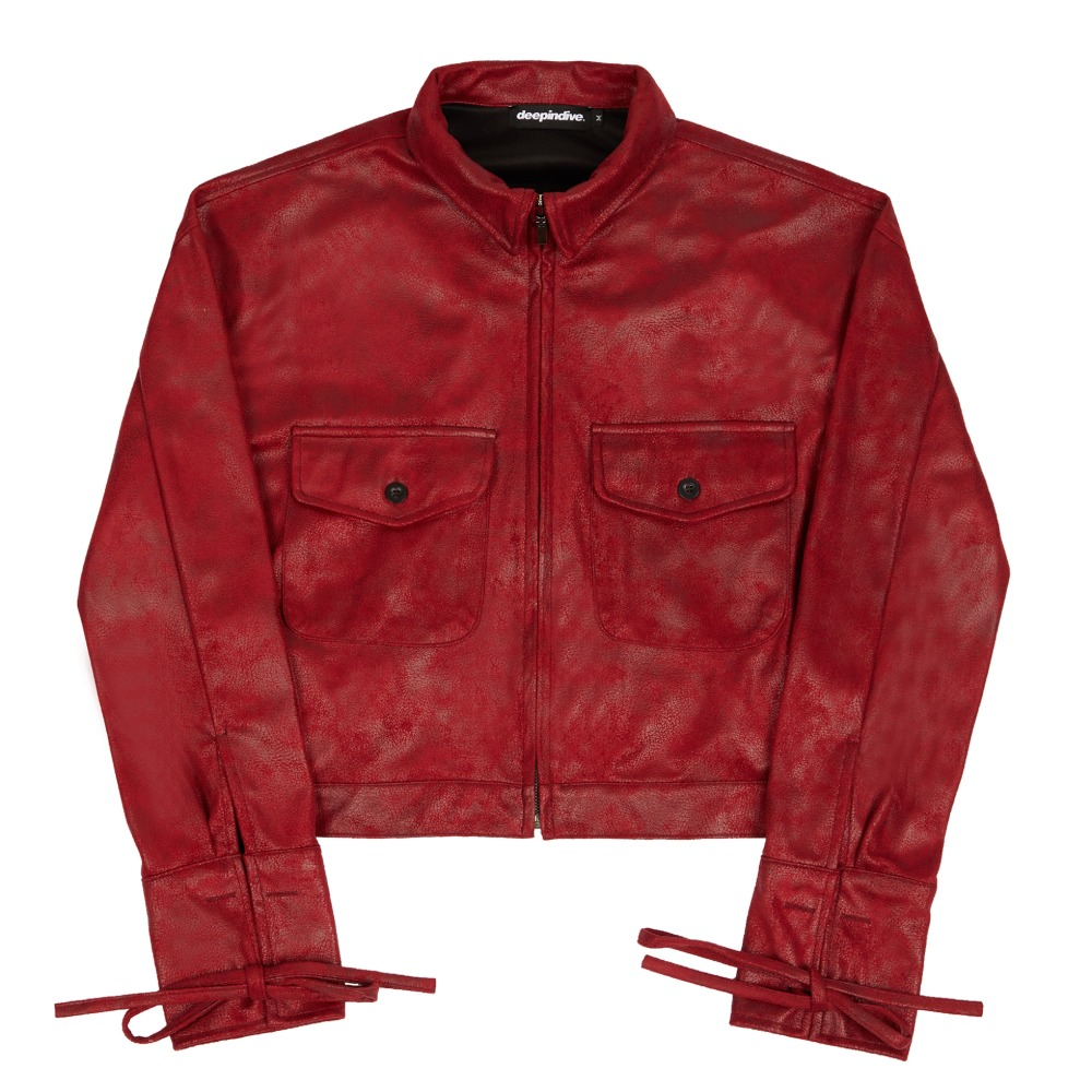 [딥인다이브] TAREGON ROPE CROP JACKET RED