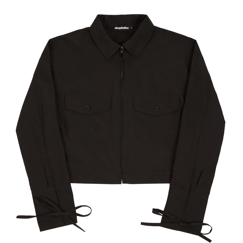 [딥인다이브] TANOS ROPE CROP JACKET BLACK