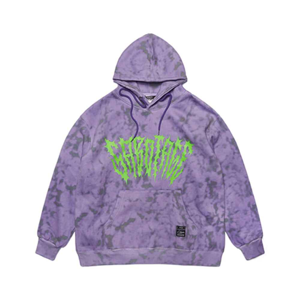 [STIGMA]GAUSSIAN OVERSIZED HEAVY SWEAT HOODIE - PURPLE