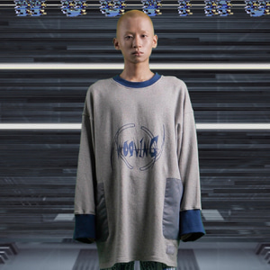 [WOOVING] ROCKET SWEATSHIRTS (NAVY)