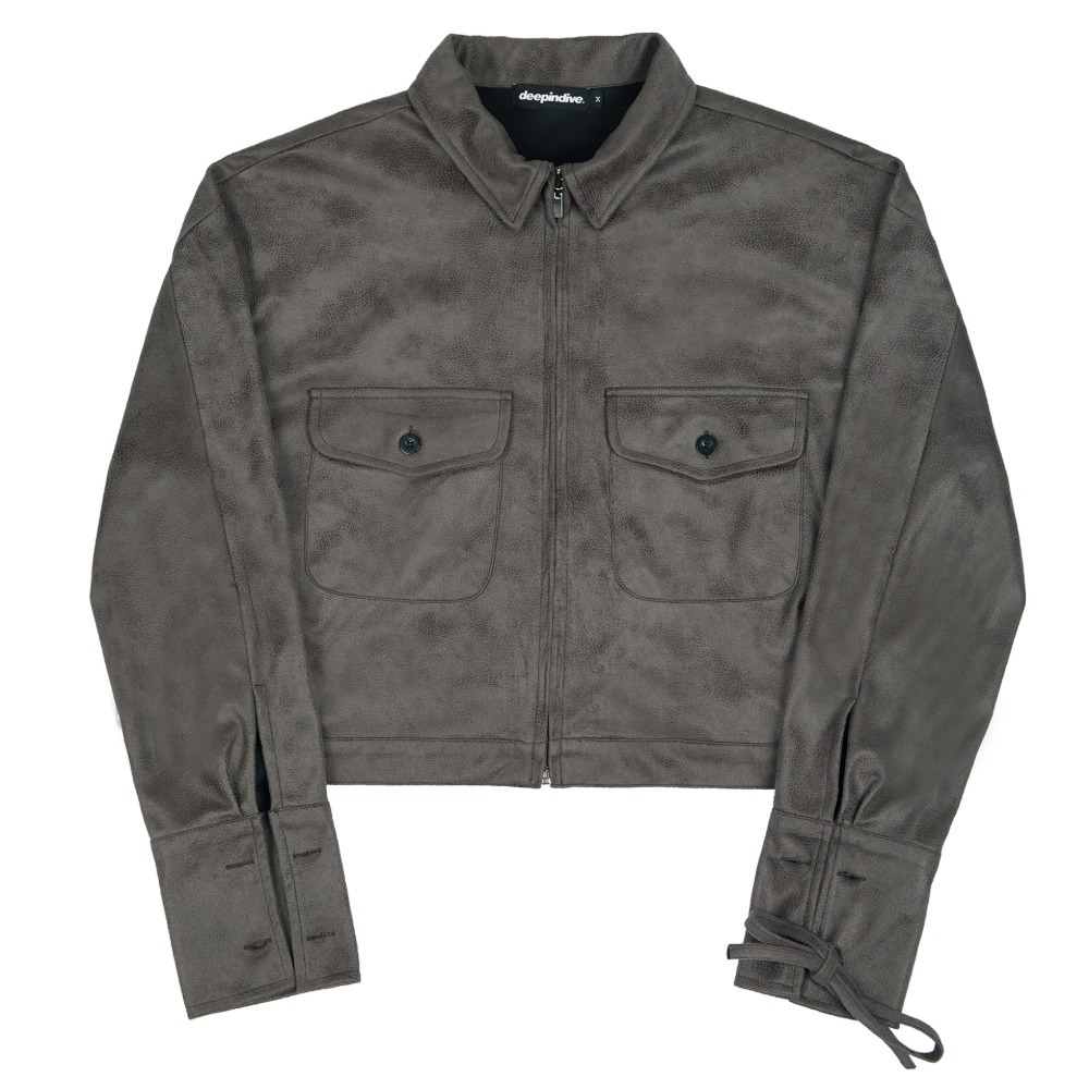 [딥인다이브] TAREGON ROPE CROP JACKET GRAY