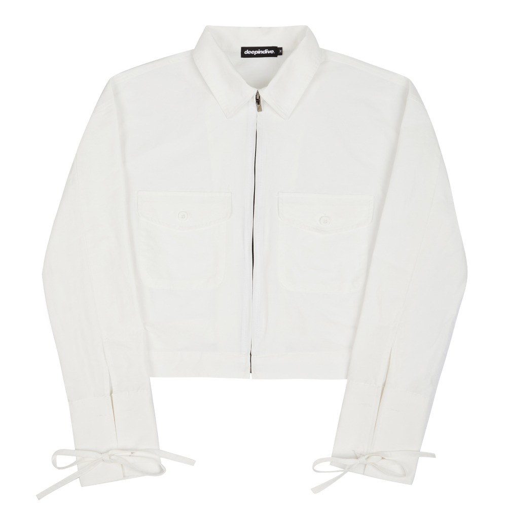 [딥인다이브] TANOS ROPE CROP JACKET WHITE