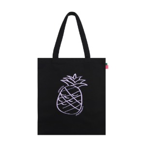 [PINK PINEAPPLE] BIG LOGO ECO BAG_BLACK